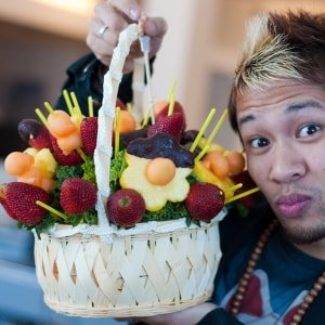 Gift homemade fruit basket