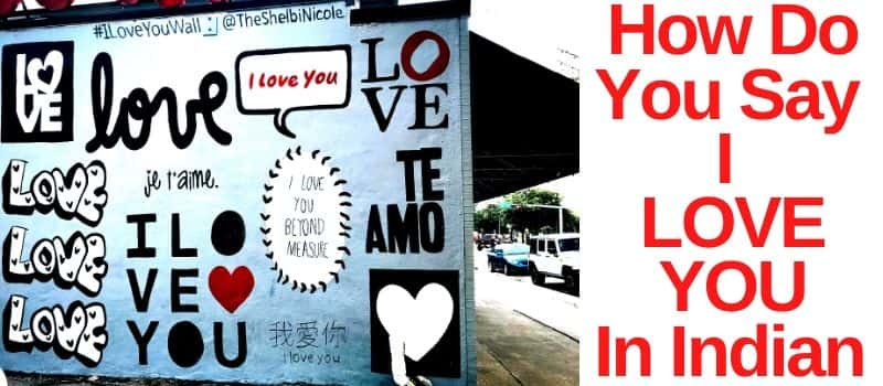 how to say i love you in indian Languages
