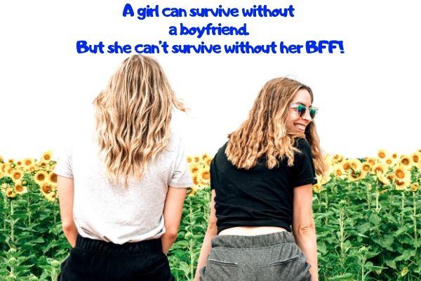 funny Insta-caption for friend