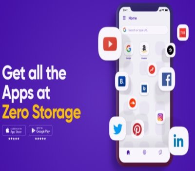 Get all the app at zero storage on popshot