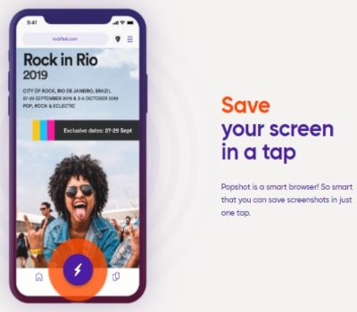 Save your screen in a tap