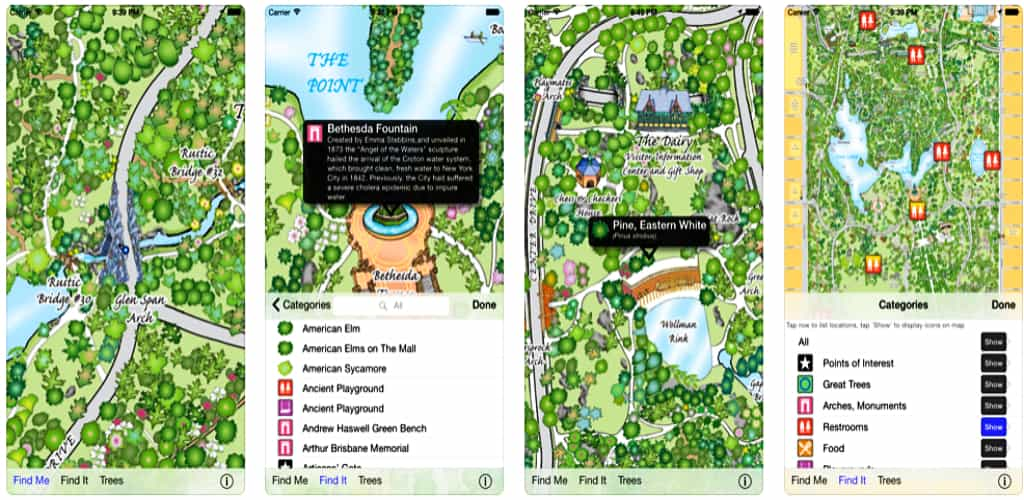 best app for Central Park in new york