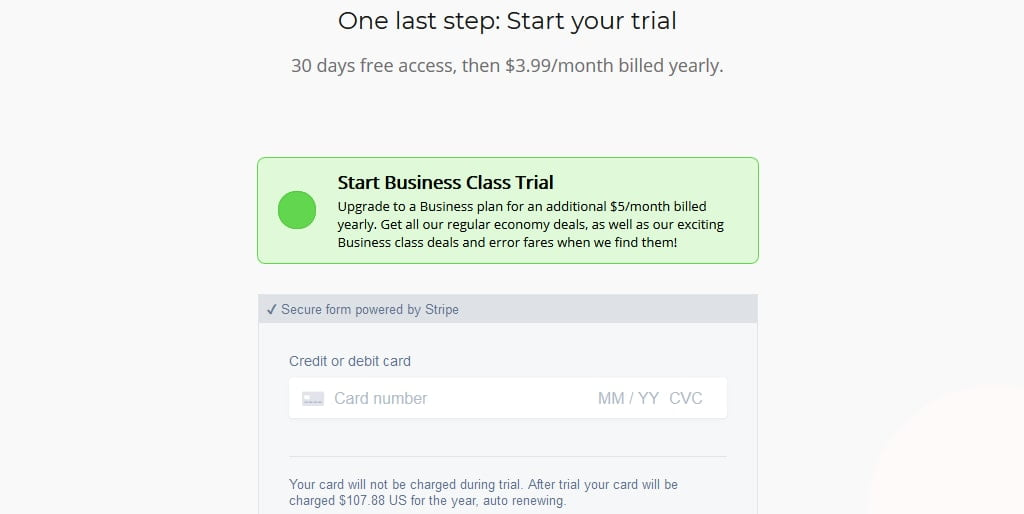 Faredrop free trial and Fee detail