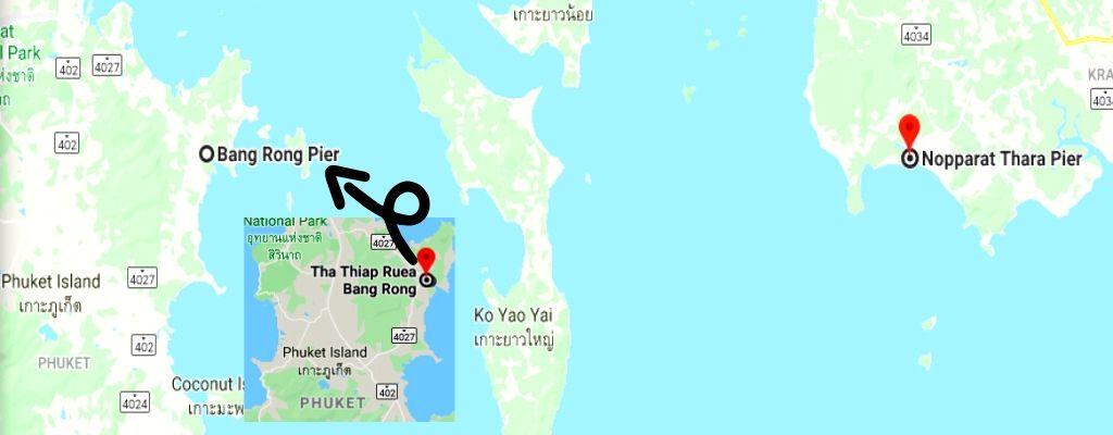 Nopparat Thara, Krabi to Bang Rong Pier cost