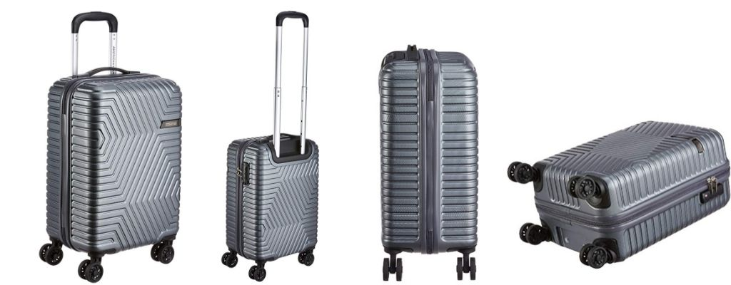 American Tourister Ellen ABS 54.5 cms Grey Hardsided Cabin Luggage  travel trolley