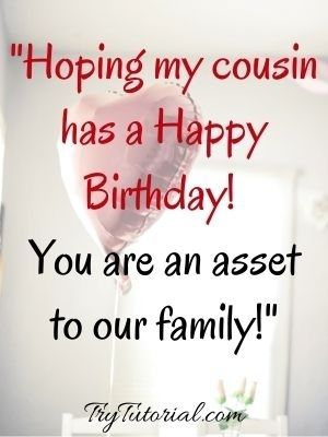 Formal Birthday Wishes For Cousin