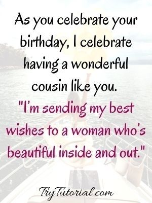 Happy Birthday Wishes For A Female Cousin
