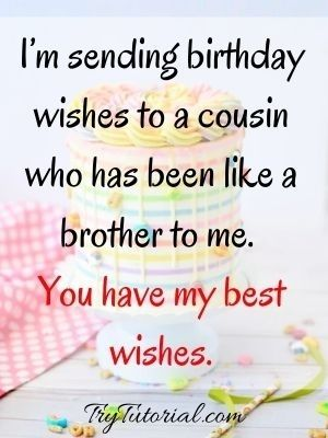 Happy Birthday Wishes For A Male Cousin