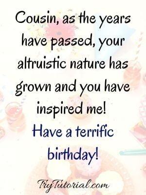 Thank you cousin birthday wish