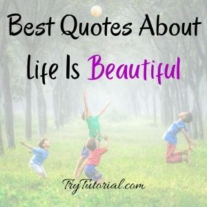 Top Quotes About Life Is Beautiful