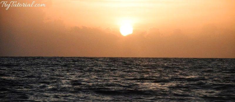 Sunset at Marari Beach Alleppey Kerala