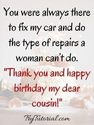 funny cousin birthday wish