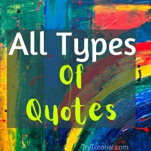 all types of quotes