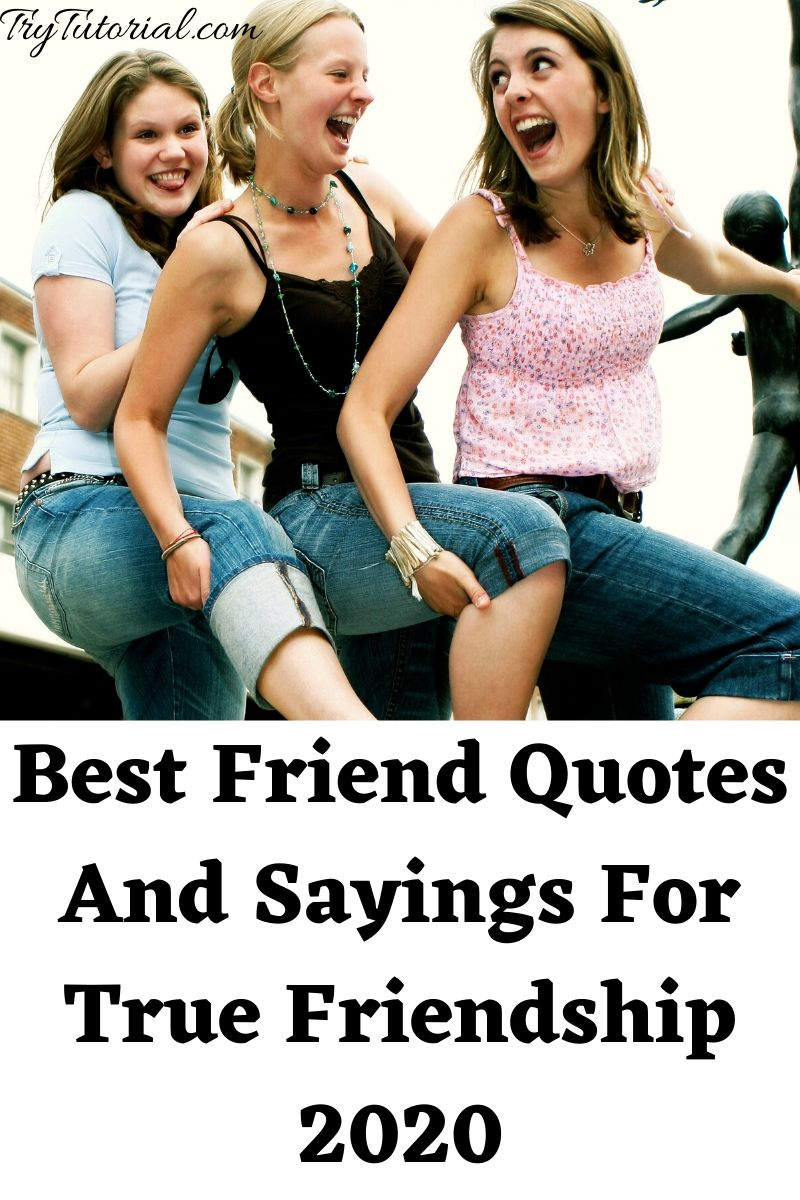 100 Best Friend Quotes And Sayings For True Friendship 2020