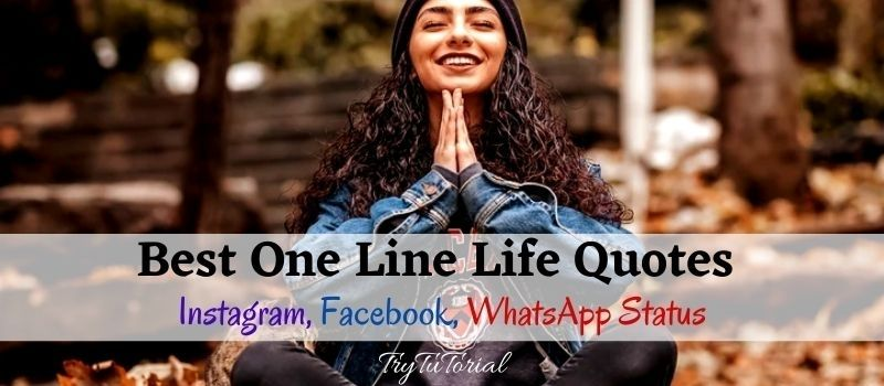 Best One Line Life Quotes For Status