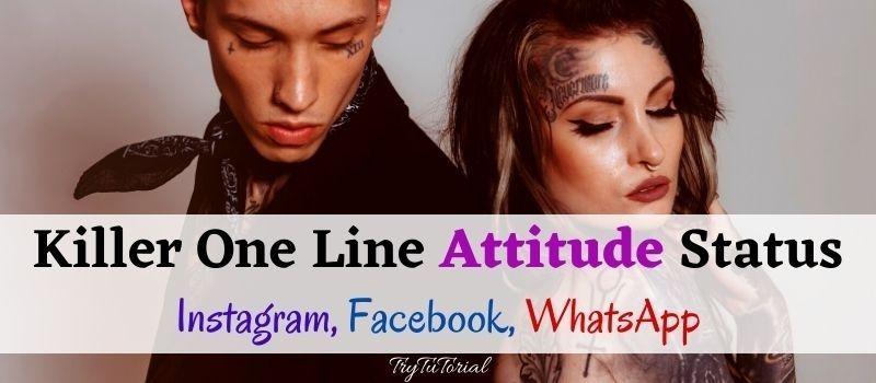 Best One Line Whatsapp Attitude Status