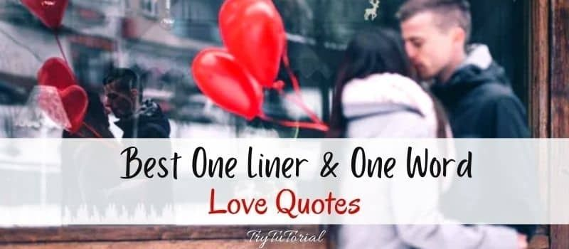 Best One Liner & One Word Love Quotes To Use