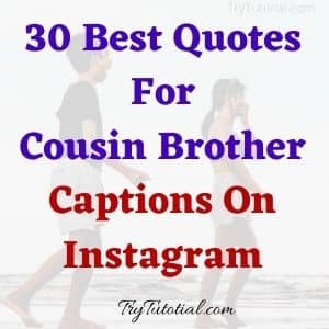 Best quote about cousins