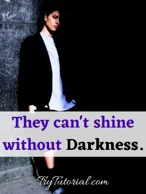 Darkness quote about myself