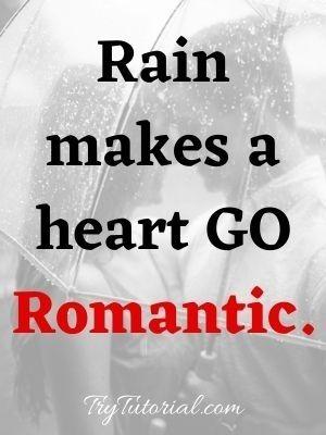Rain makes a heart GO Romantic.