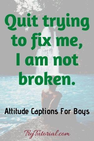 Attitude Captions for Boys For Insta, Fb