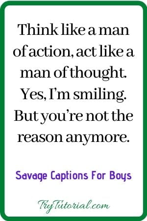 Best Savage Captions For Men
