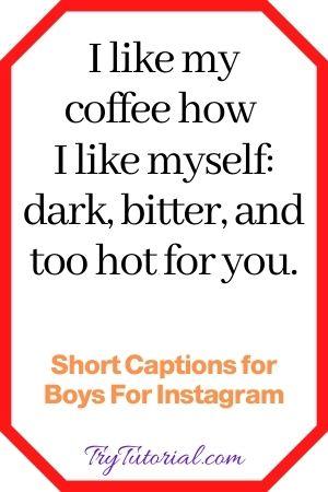 Short Captions for Men/Boys
