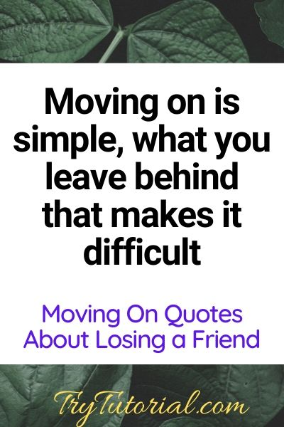 Moving On Quotes About Lost Friendship