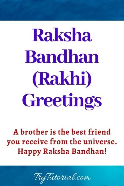 Raksha Bandhan (Rakhi) Greetings