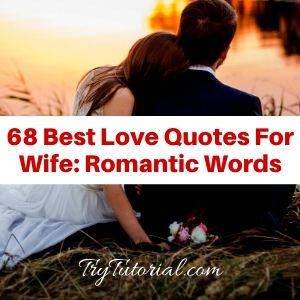 68 Best Love Quotes For Wife: Romantic Words [currentyear] 2