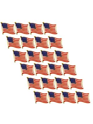 Juvale American Flag Lapel Pins