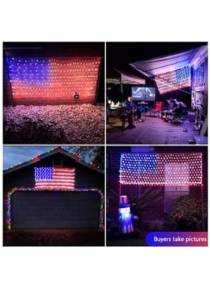 Auelife American Flag Lights