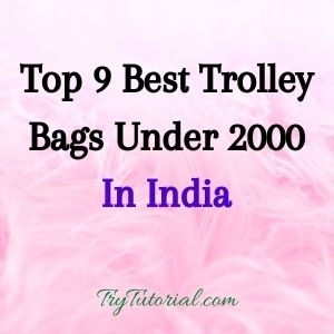 Top 9 Best Trolley Bags Under 2000 In India