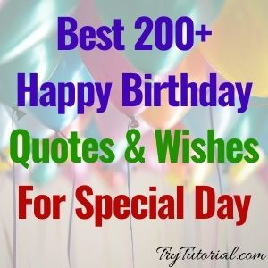 Best 200+ Happy Birthday Quotes & Wishes For Special Day