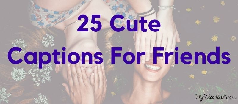 Best 25 Cute Captions For Friends
