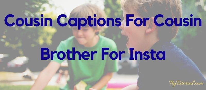 50 Best Quotes Captions For Cousin Brother 2020 Trytutorial