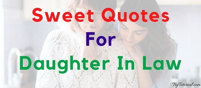 Sweet Quotes For Daughter In Law