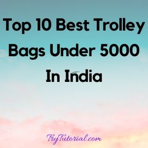 Top 10 Best Trolley Bags Under 5000 In India