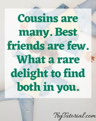 caption for cousins pic