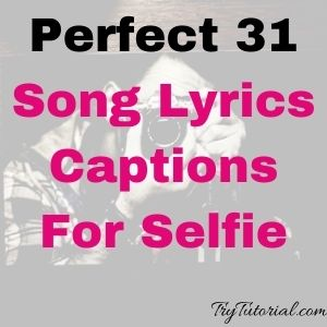 Perfect 31 Song Lyrics Captions For Selfie