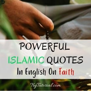 Powerful Islamic Quotes On Faith