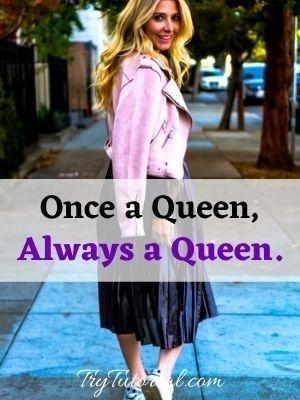 Queen caption for girls