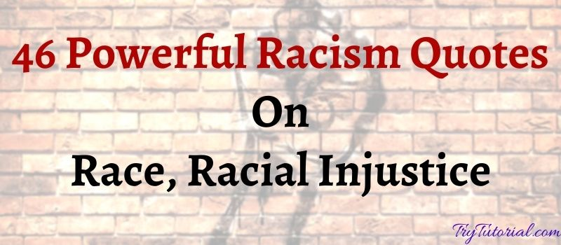 46 Powerful Racism Quotes On Race, Racial Injustice