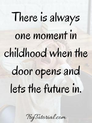 Short Inspiring Childhood Memories Caption