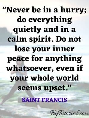 Tranquility Quotes And Peace Sayings