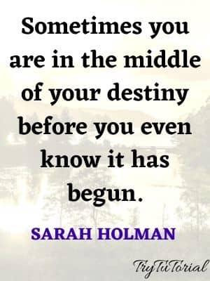 Amazing Quotes On Destiny And Karma