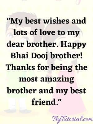 Beautiful Happy Bhai Dooj Wishes & Quotes For Brother