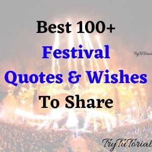 Best 100+ Festival Quotes & Wishes To Share