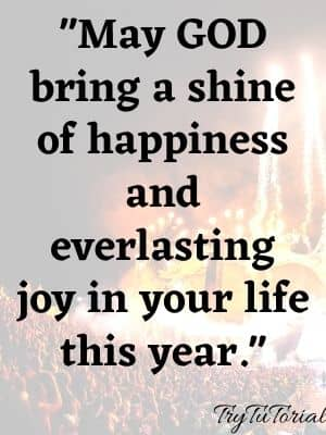 May GOD bring a shine of happiness and everlasting joy in your life this year.