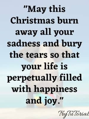 May this Christmas burn away all your sadness.